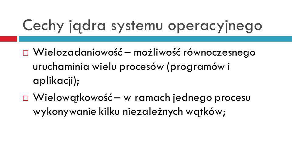 Cechy jądra systemu operacyjnego