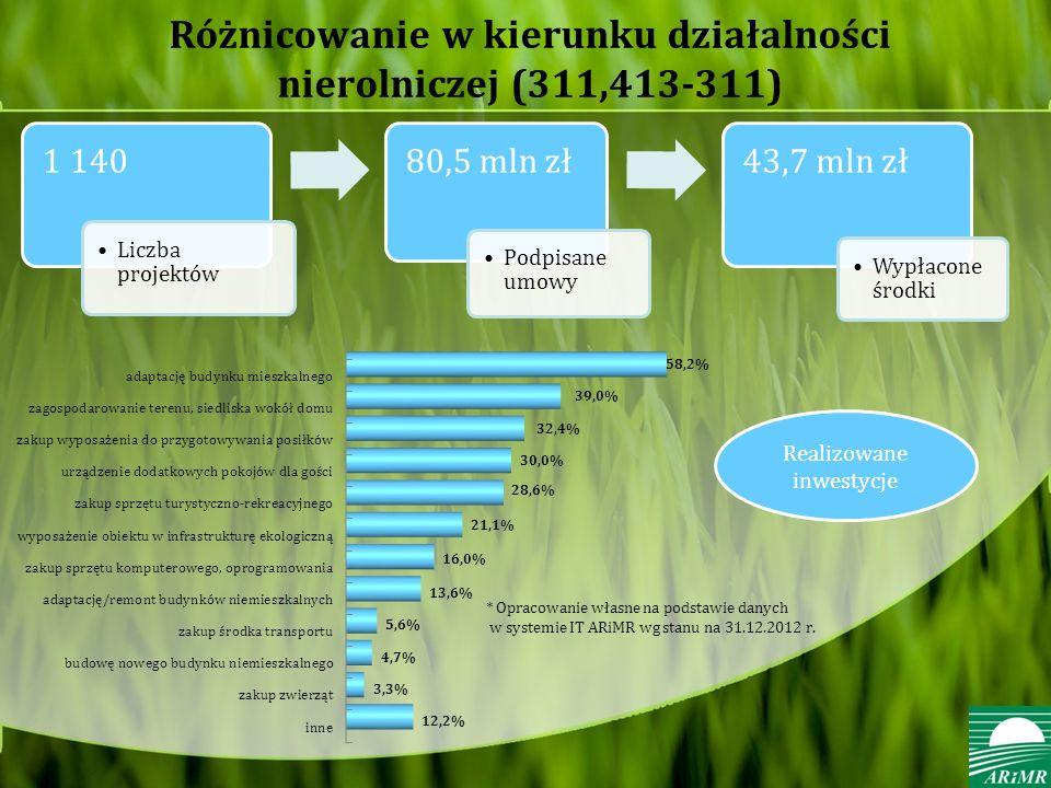 Różnicowanie w kierunku działalności nierolniczej (311,413-311)