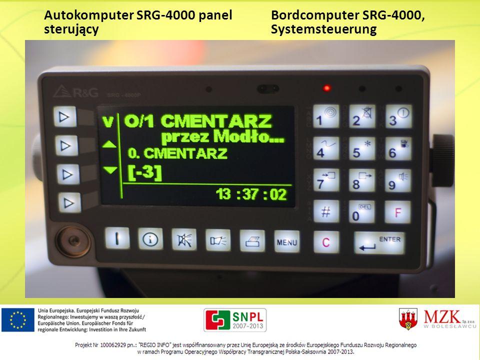 Autokomputer SRG-4000 panel sterujący