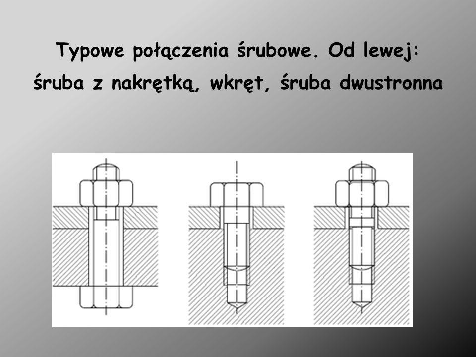Typowe połączenia śrubowe