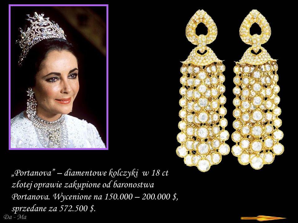 """""""Portanova – diamentowe kolczyki w 18 ct złotej oprawie zakupione od baronostwa Portanova."""