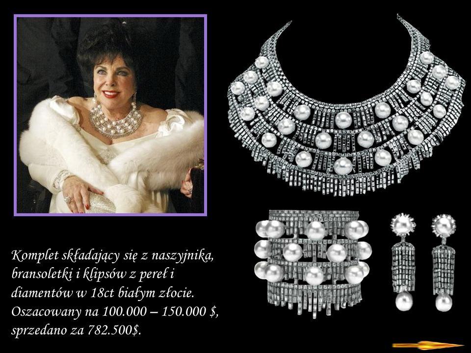 Komplet składający się z naszyjnika, bransoletki i klipsów z pereł i diamentów w 18ct białym złocie.