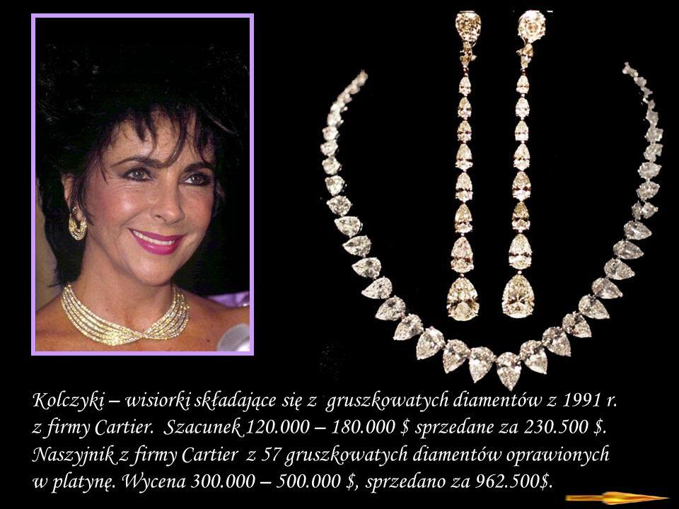 Kolczyki – wisiorki składające się z gruszkowatych diamentów z 1991 r