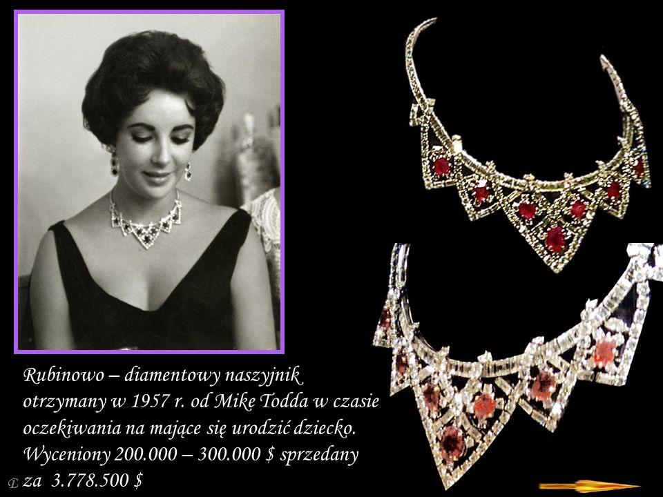 Rubinowo – diamentowy naszyjnik otrzymany w 1957 r