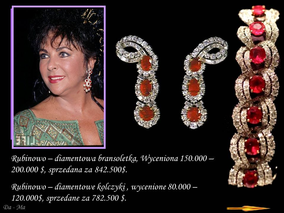 Rubinowo – diamentowa bransoletka, Wyceniona 150. 000 – 200