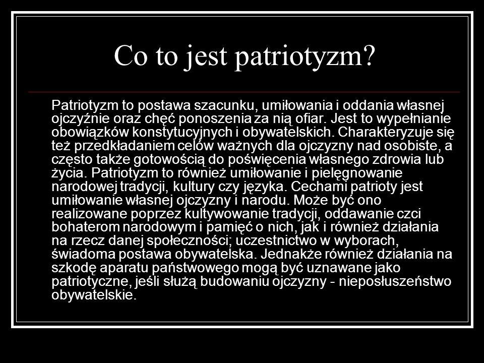 Co to jest patriotyzm