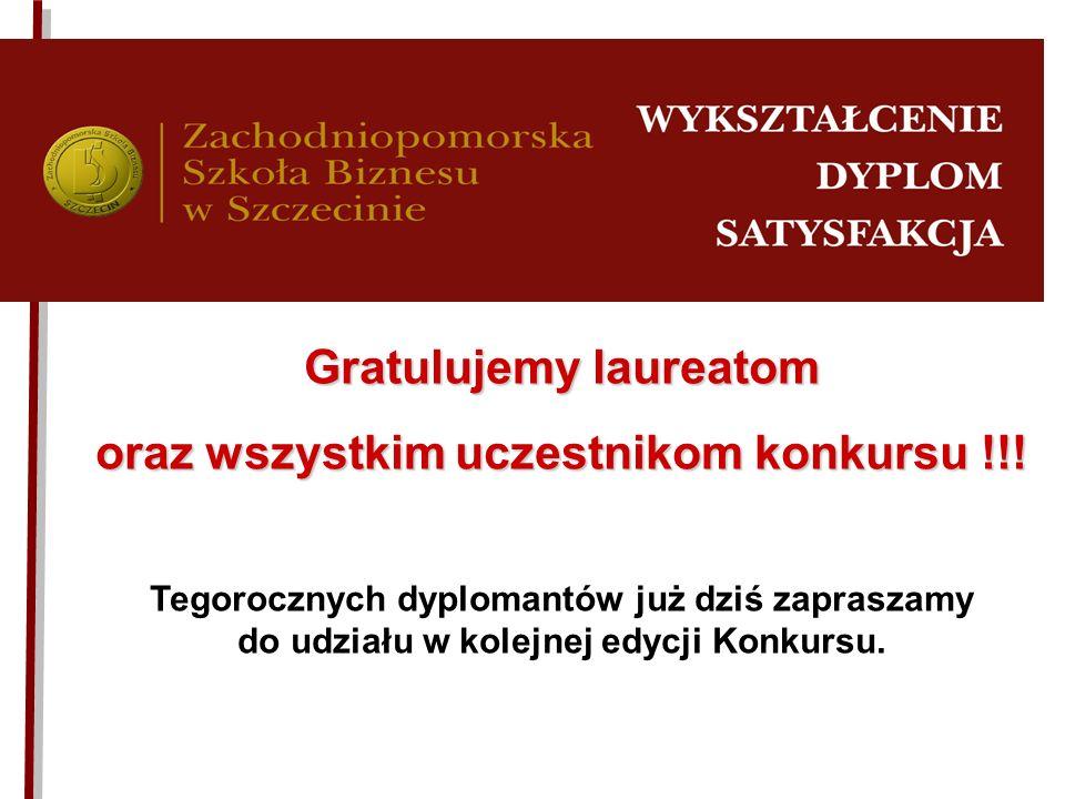 Gratulujemy laureatom oraz wszystkim uczestnikom konkursu !!!