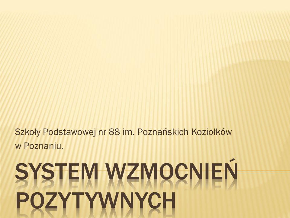 SYSTEM WZMOCNIEŃ POZYTYWNYCH