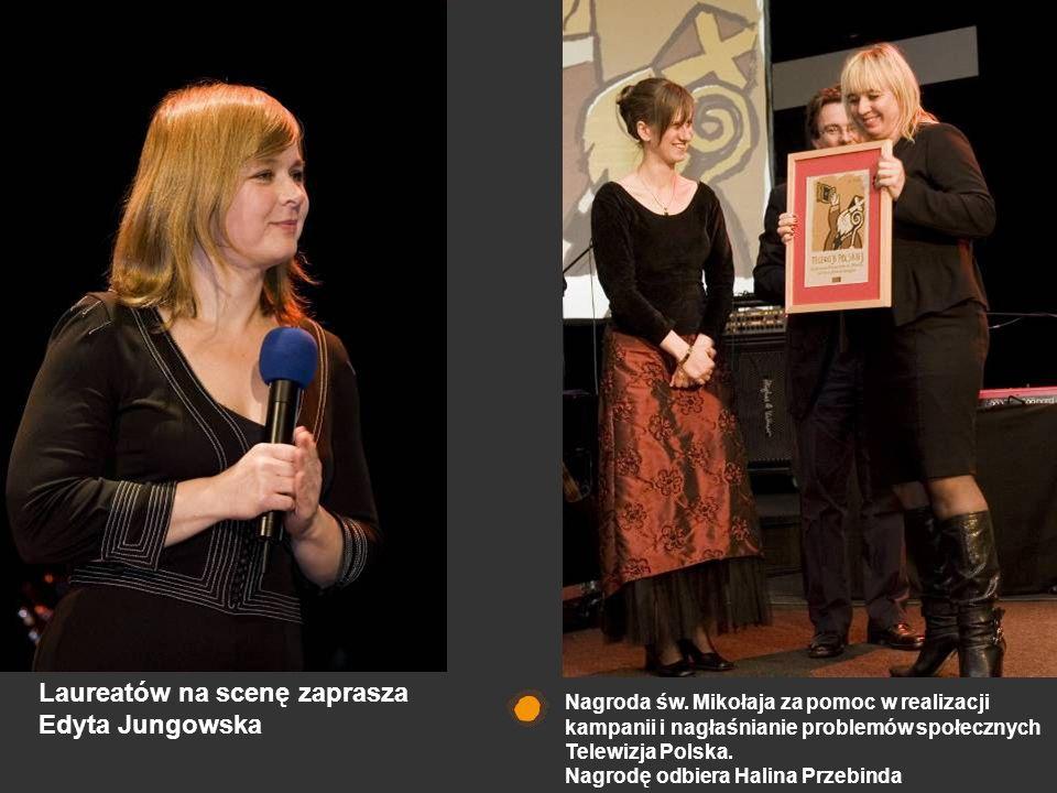 Laureatów na scenę zaprasza Edyta Jungowska