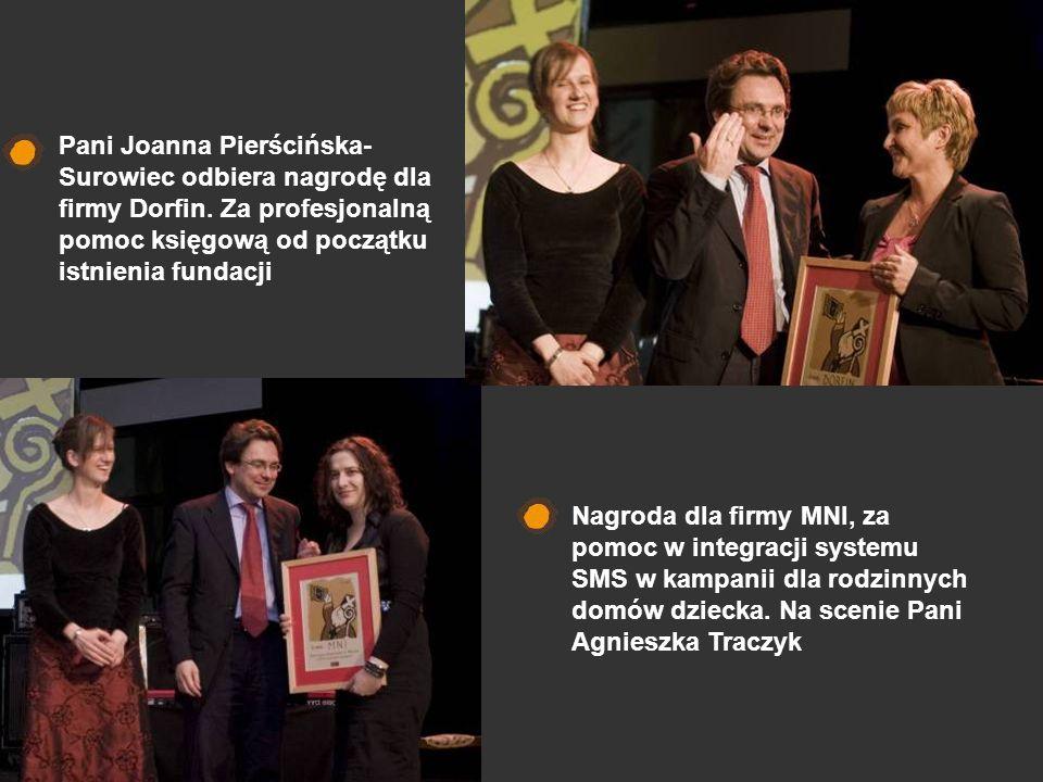 Pani Joanna Pierścińska-Surowiec odbiera nagrodę dla firmy Dorfin