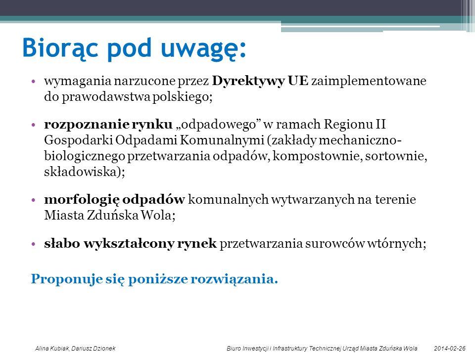 Biorąc pod uwagę: wymagania narzucone przez Dyrektywy UE zaimplementowane do prawodawstwa polskiego;