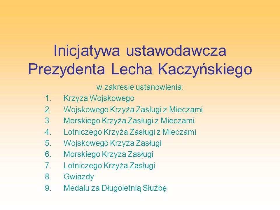 Inicjatywa ustawodawcza Prezydenta Lecha Kaczyńskiego