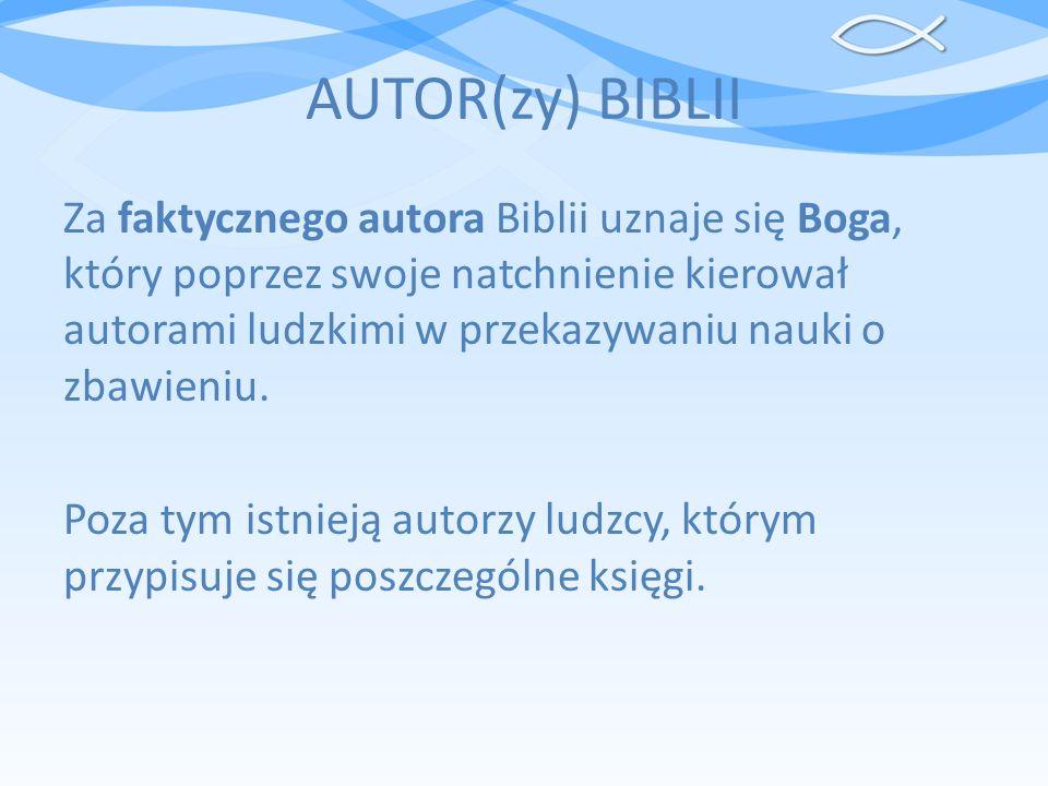 AUTOR(zy) BIBLII