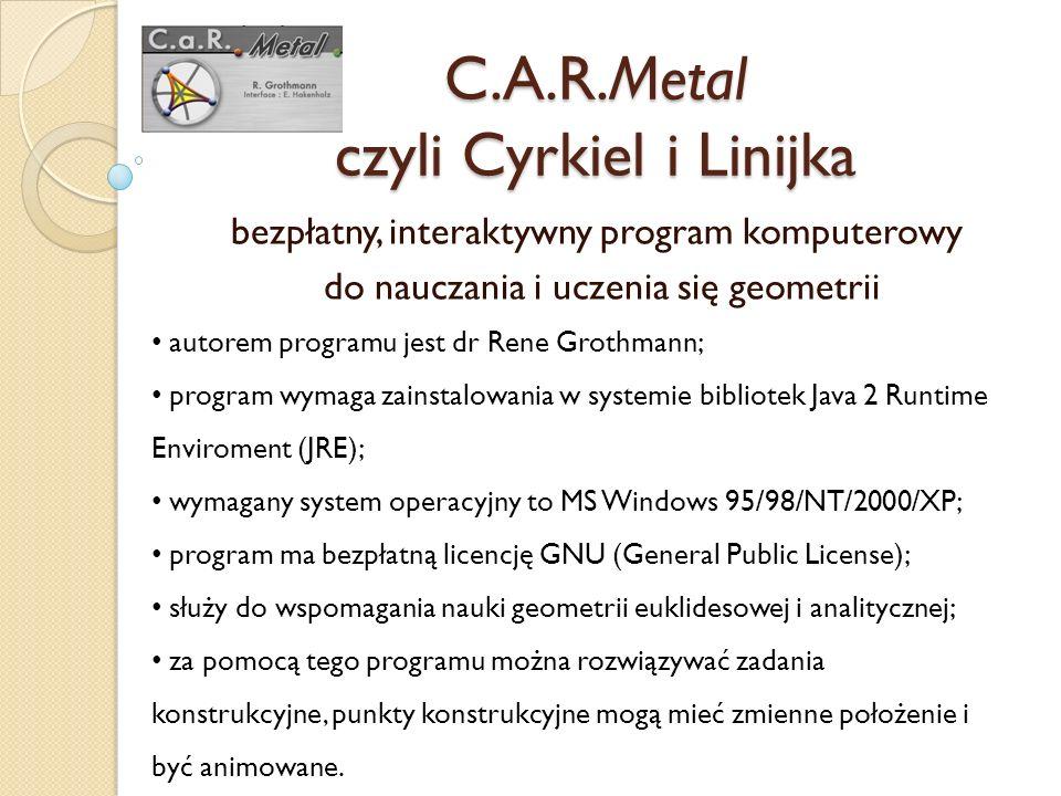 C.A.R.Metal czyli Cyrkiel i Linijka