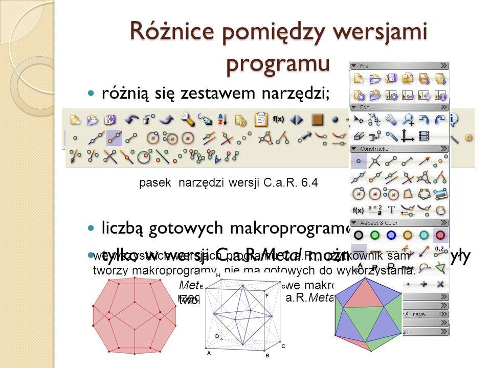 Różnice pomiędzy wersjami programu
