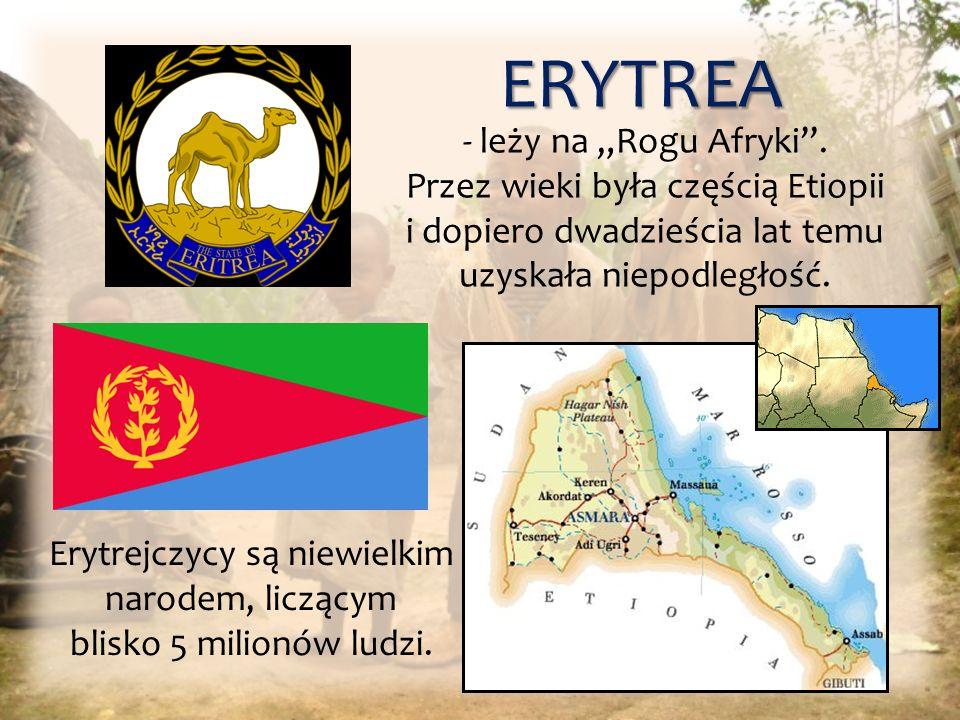 Erytrejczycy są niewielkim narodem, liczącym blisko 5 milionów ludzi.