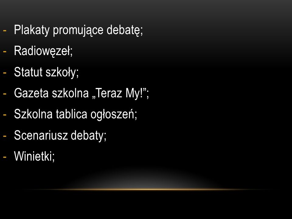 Plakaty promujące debatę;
