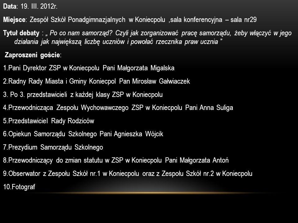 Data: 19. III. 2012r.