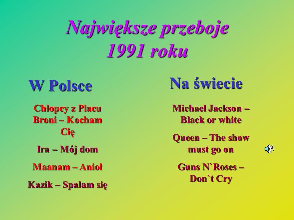 Największe przeboje 1991 roku