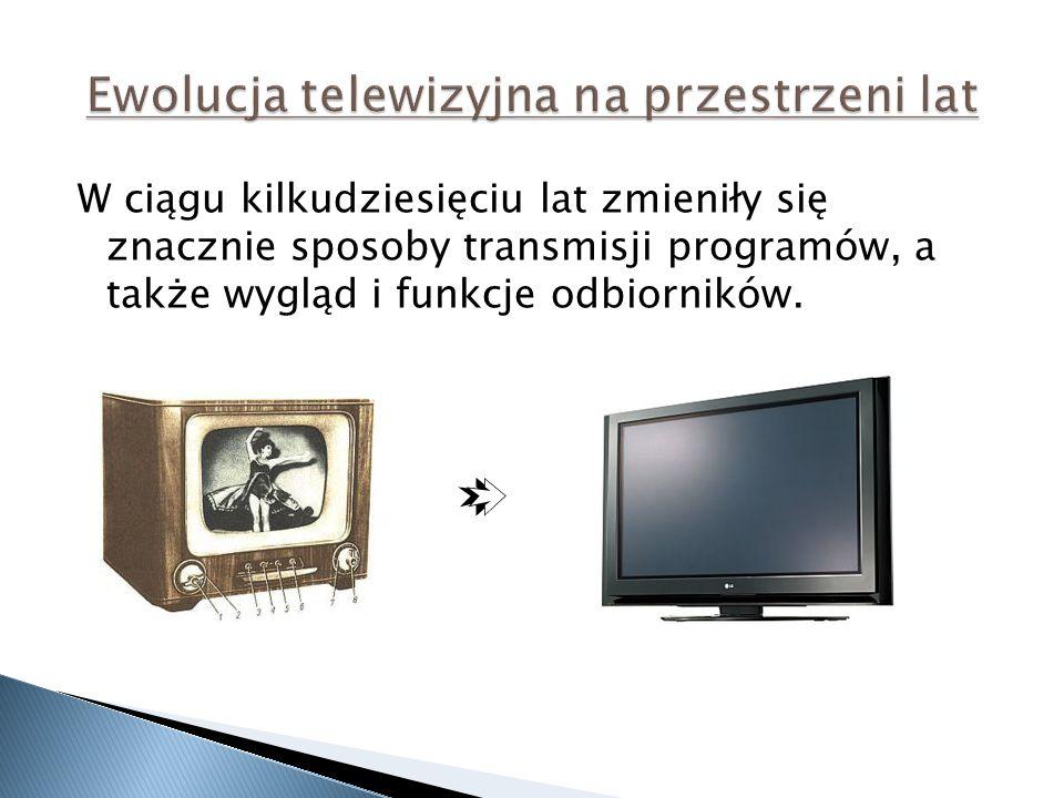 Ewolucja telewizyjna na przestrzeni lat