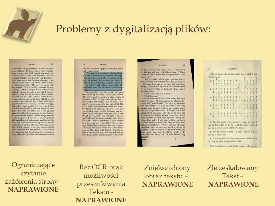 Problemy z dygitalizacją plików: