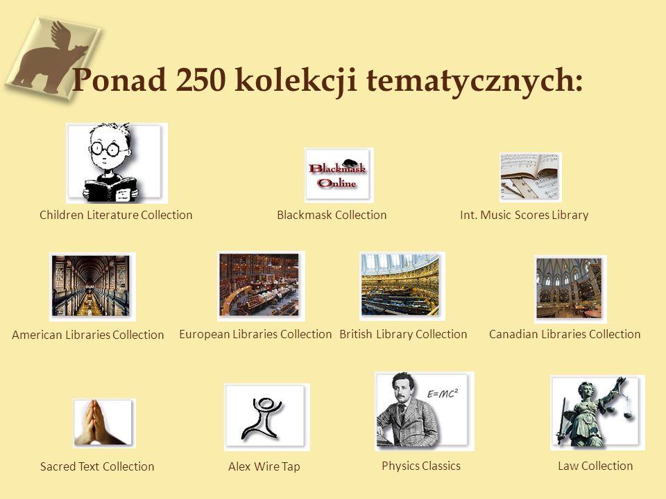 Ponad 250 kolekcji tematycznych: