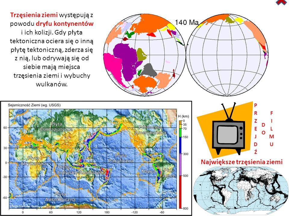 Największe trzęsienia ziemi