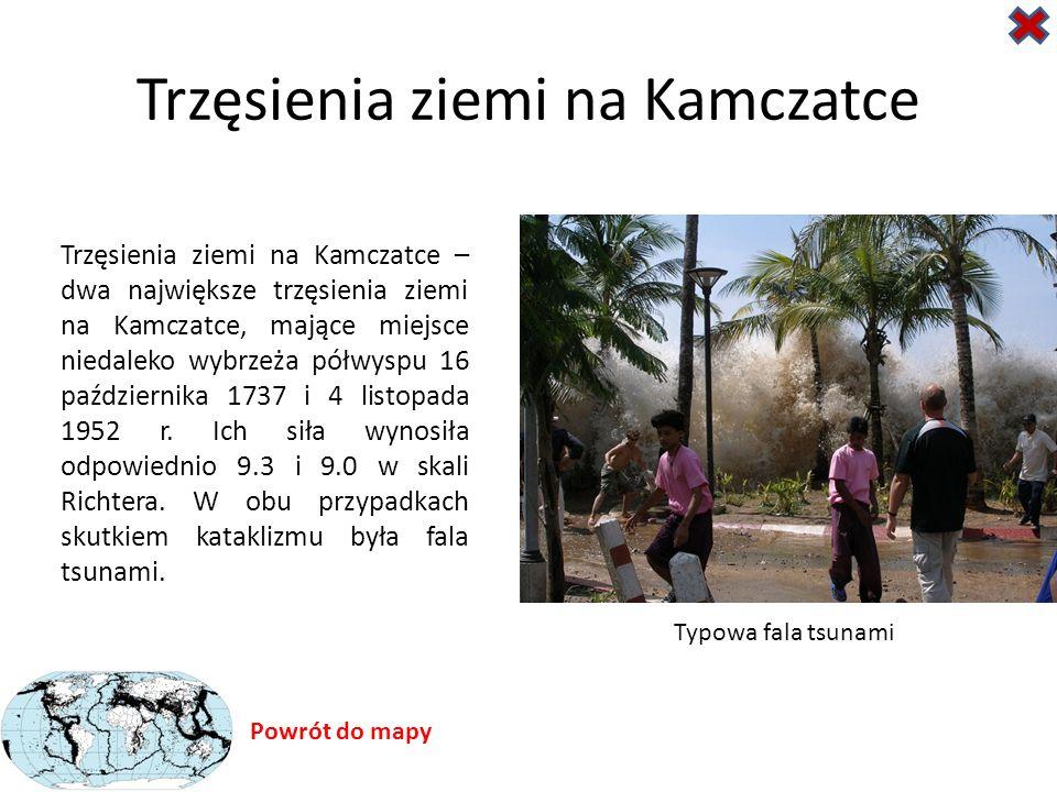 Trzęsienia ziemi na Kamczatce