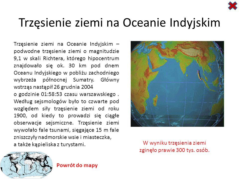 Trzęsienie ziemi na Oceanie Indyjskim
