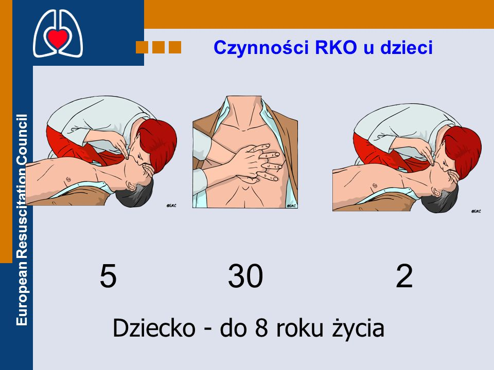 Czynności RKO u dzieci 5 30 2 Dziecko - do 8 roku życia