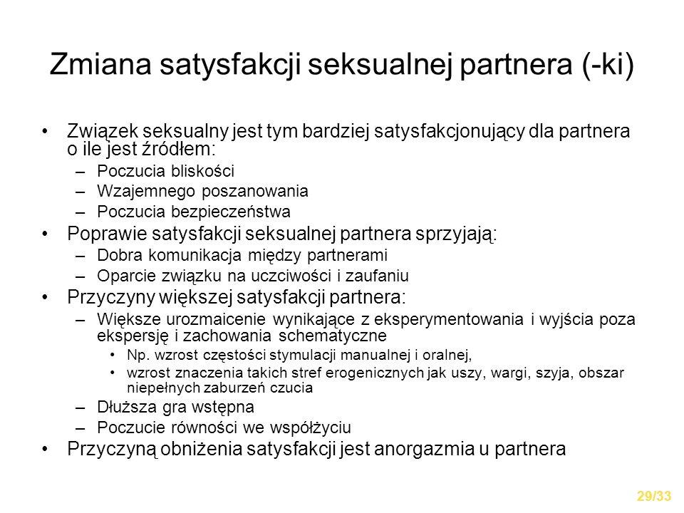 Zmiana satysfakcji seksualnej partnera (-ki)