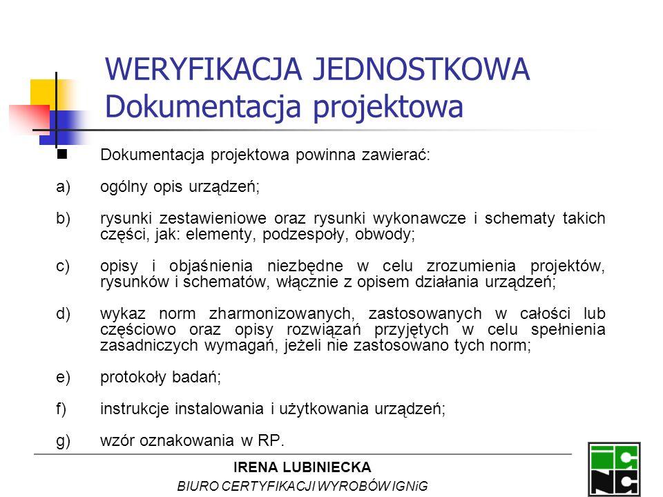 WERYFIKACJA JEDNOSTKOWA Dokumentacja projektowa