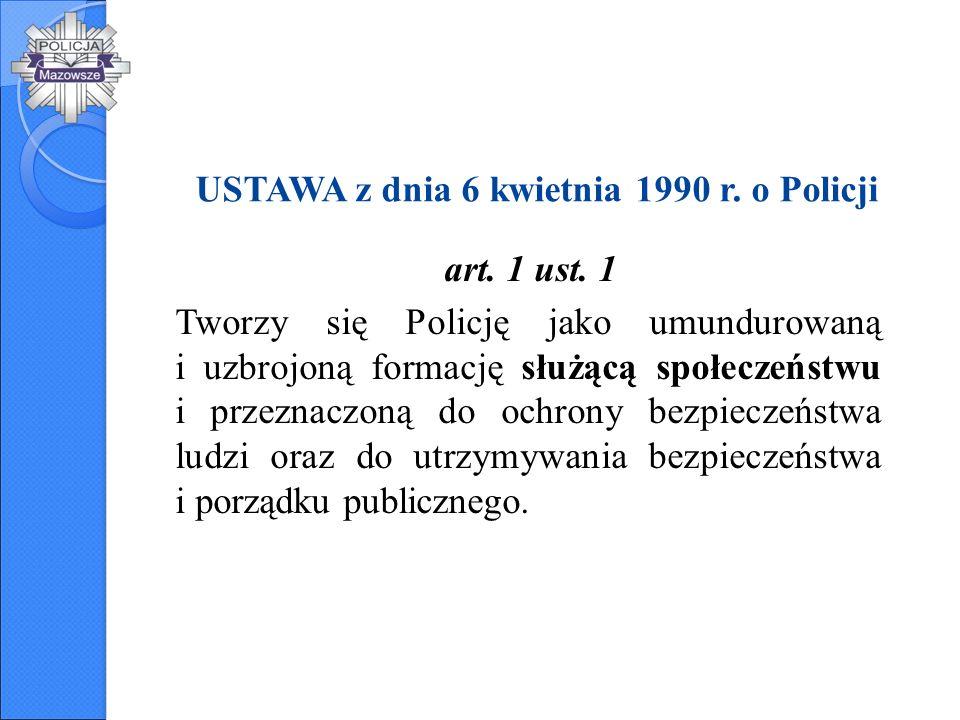 USTAWA z dnia 6 kwietnia 1990 r. o Policji