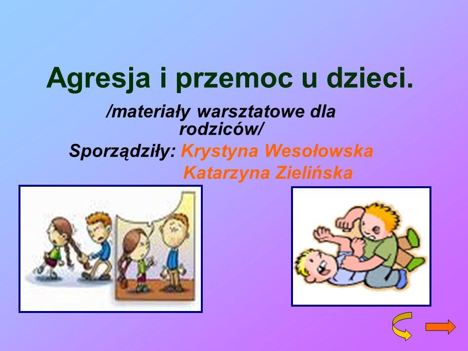 Agresja i przemoc u dzieci.