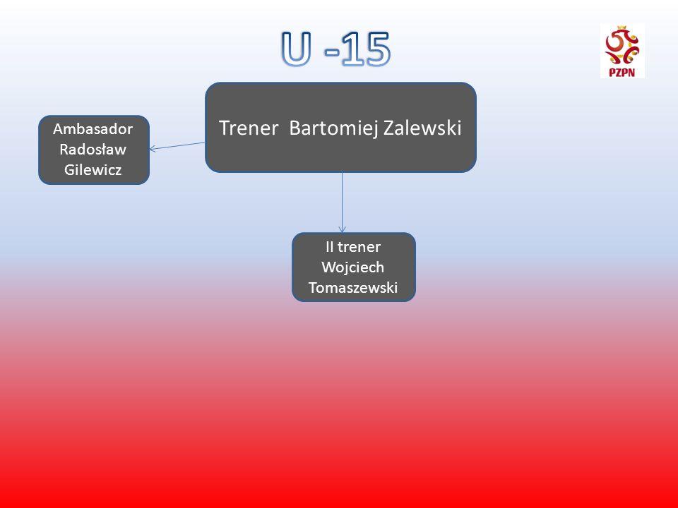 U -15 Trener Bartomiej Zalewski Ambasador Radosław Gilewicz