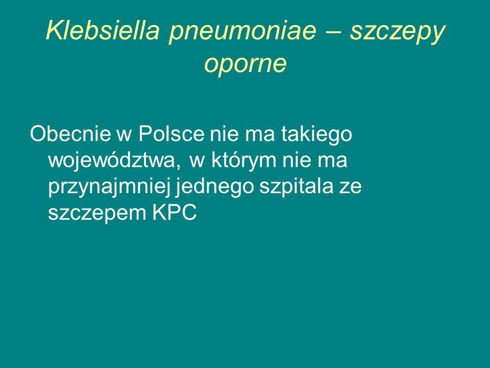 Klebsiella pneumoniae – szczepy oporne