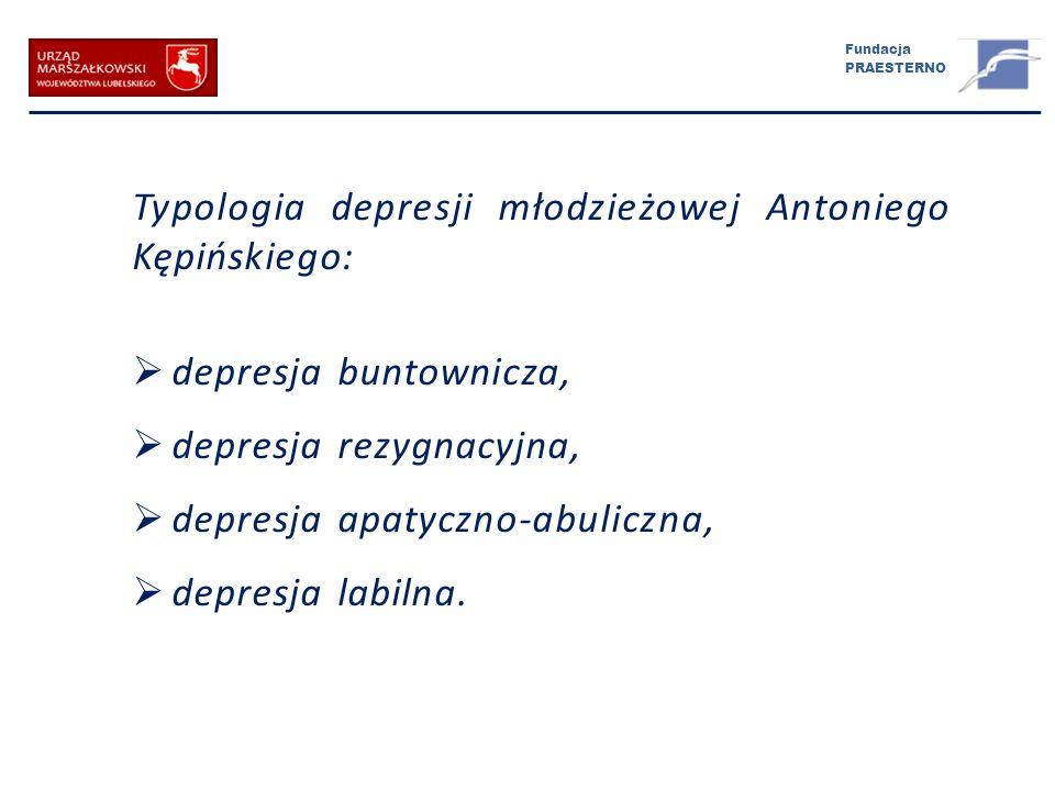 Typologia depresji młodzieżowej Antoniego Kępińskiego: