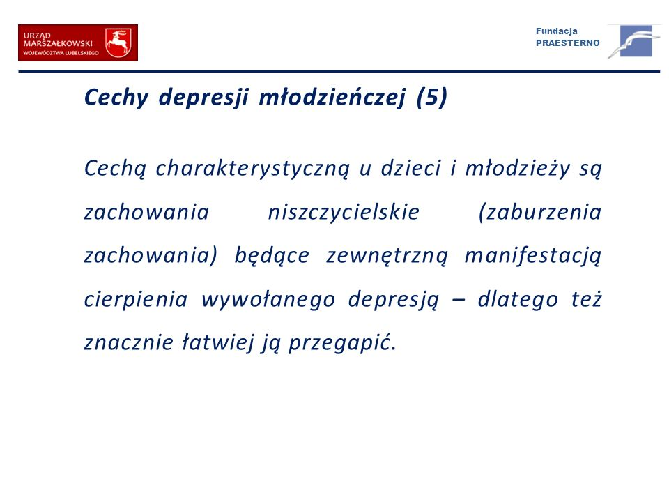 Cechy depresji młodzieńczej (5)