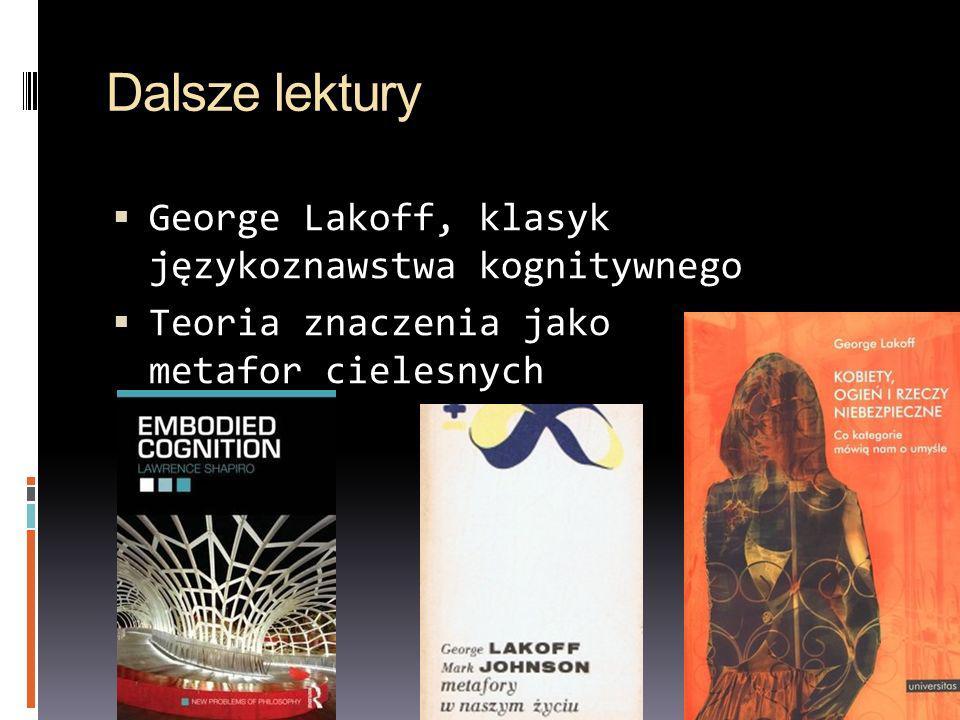 Dalsze lektury George Lakoff, klasyk językoznawstwa kognitywnego