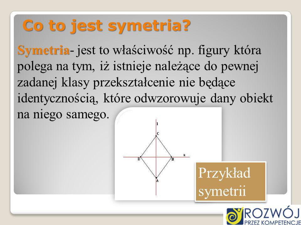 Co to jest symetria Przykład symetrii