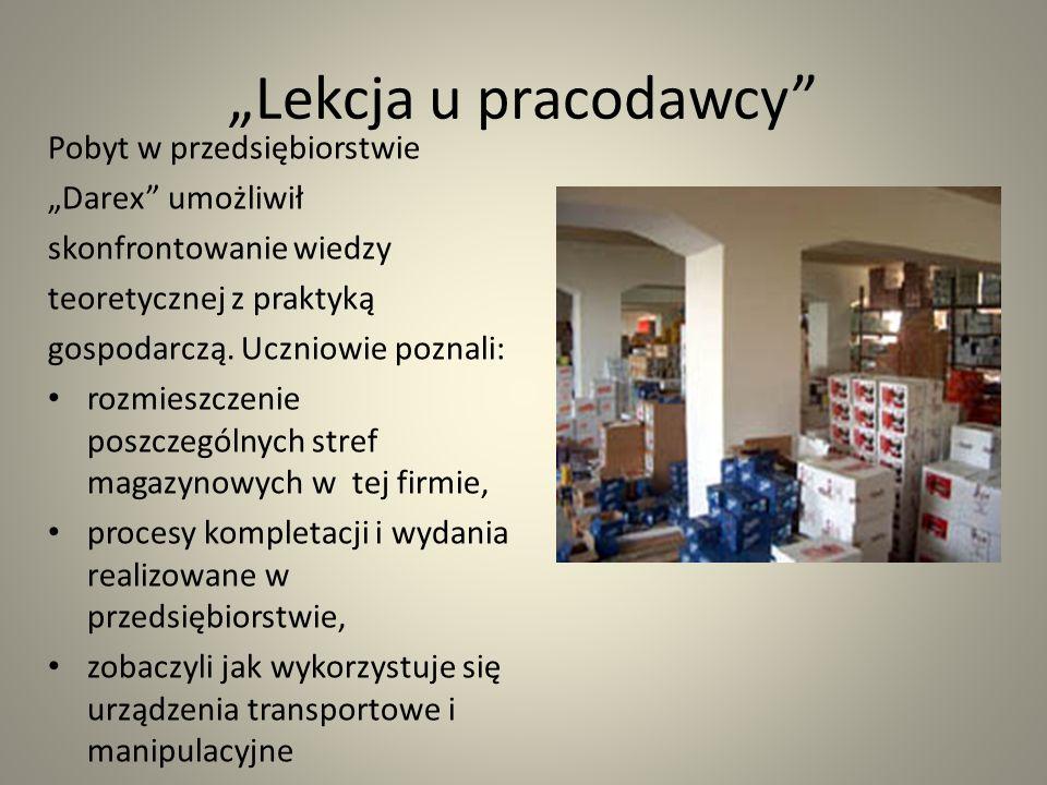 """""""Lekcja u pracodawcy Pobyt w przedsiębiorstwie """"Darex umożliwił"""