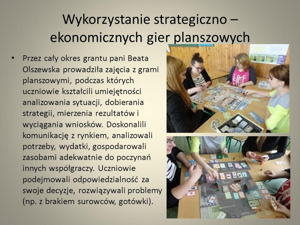 Wykorzystanie strategiczno – ekonomicznych gier planszowych