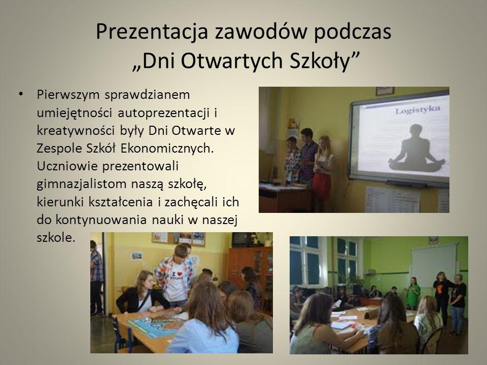 """Prezentacja zawodów podczas """"Dni Otwartych Szkoły"""