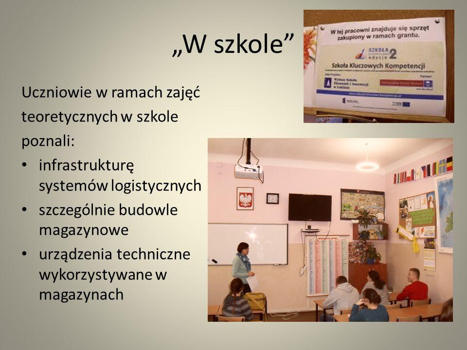 """""""W szkole Uczniowie w ramach zajęć teoretycznych w szkole poznali:"""