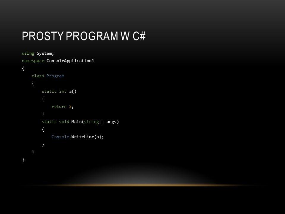 Prosty program w C#