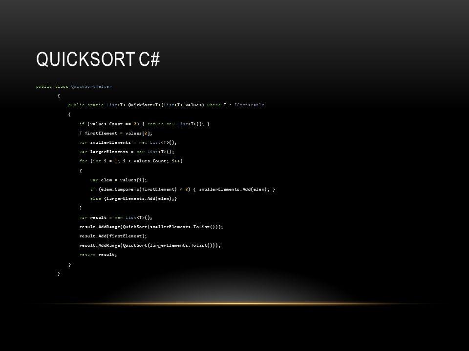 Quicksort C#