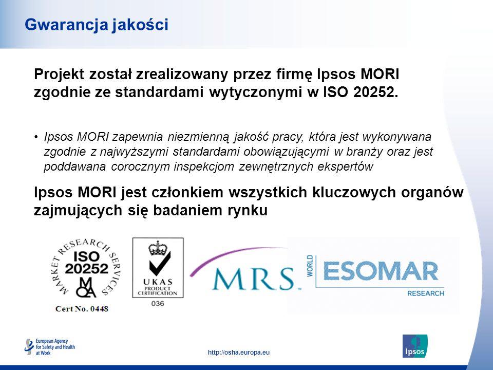 Gwarancja jakości Projekt został zrealizowany przez firmę Ipsos MORI zgodnie ze standardami wytyczonymi w ISO 20252.
