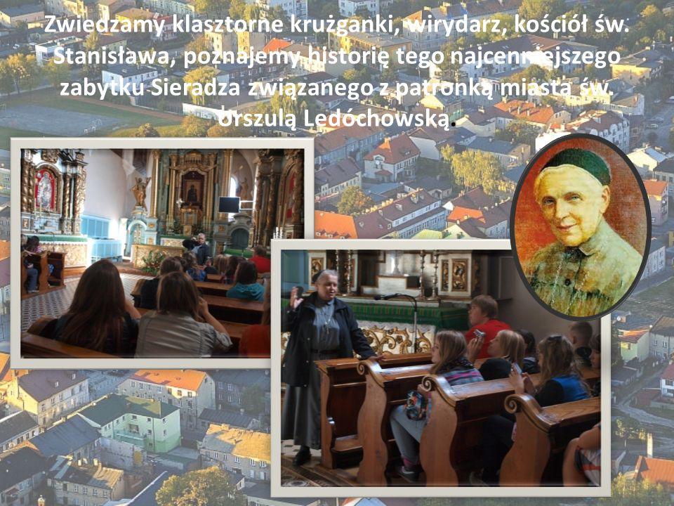 Zwiedzamy klasztorne krużganki, wirydarz, kościół św