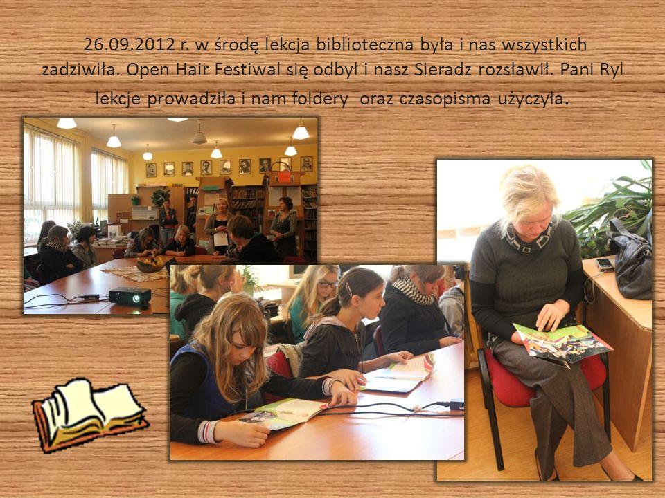 26.09.2012 r. w środę lekcja biblioteczna była i nas wszystkich zadziwiła.
