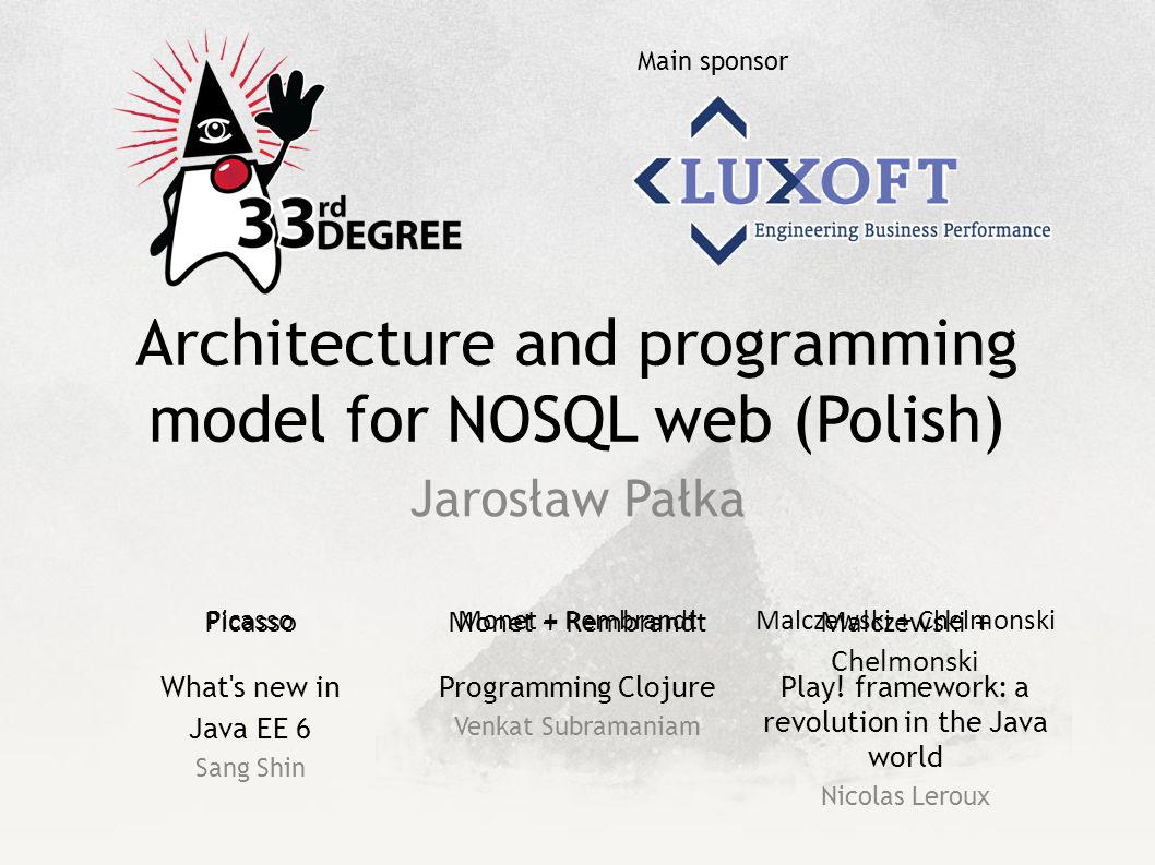 Architecture and programming model for NOSQL web (Polish)